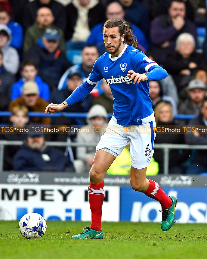 Christian Burgess of Portsmouth during Portsmouth vs Crewe Alexandra, Sky Bet EFL League 2 Football at Fratton Park on 4th March 2017