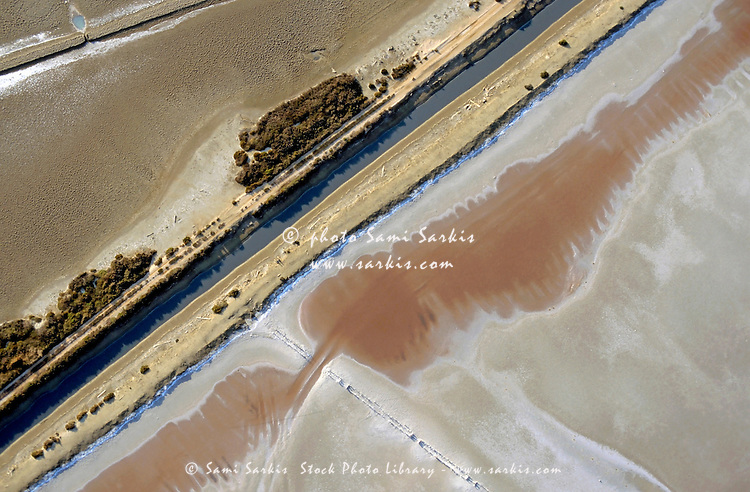 Barren salt flats expanding across a wide distance, Camargue, Provence, France