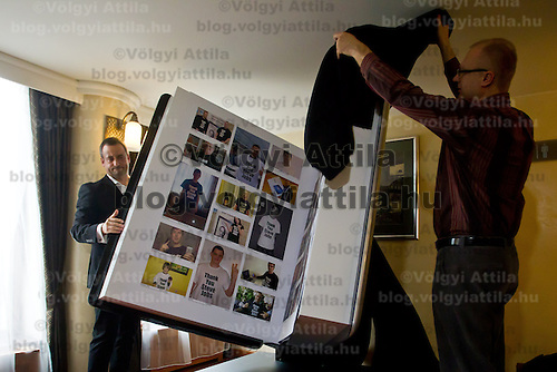 Official presentation of the Thank You Steve Jobs project in Budapest, Hungary on February 24, 2012. ATTILA VOLGYI