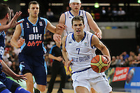 GB's Devon Van Oostrum during the EuroBasket 2015 2nd Qualifying Round Great Britain v Bosnia & Herzegovina (Euro Basket 2nd Qualifying Round) at Copper Box Arena in London. - 13/08/2014