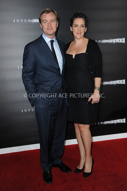 WWW.ACEPIXS.COM<br /> November 3, 2014 New York City<br /> <br /> Christopher Nolan and Emma Thomas attending the 'Interstellar' New York Premiere at AMC Lincoln Square Theater in Manhattan on November 3, 2014 in New York City. <br /> <br /> By Line: Kristin Callahan/ACE Pictures<br /> ACE Pictures, Inc.<br /> tel: 646 769 0430<br /> Email: info@acepixs.com<br /> www.acepixs.com