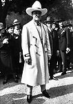 American actor Tom Mix (1880-1940) at the Longchamp Racecourse in Paris in 1925.