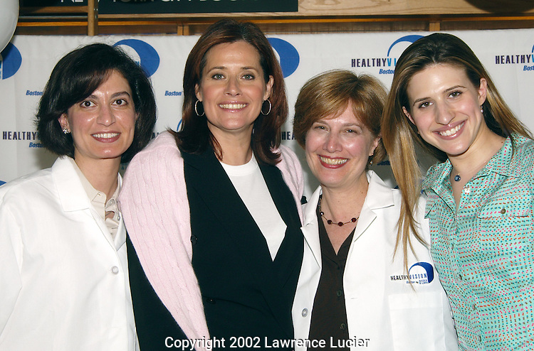 Actress Lorraine Bracco and her daugher Margaux Guerard kick off the Boston by Bausch & Lomb Healthy Vision Campaign June 13, 2002 in New York City. The campaign promotes the need of proper eye care for long-term health.
