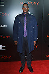 "Producer Mark Swinton arrives on the red-carpet for Tyler Perry""s ACRIMONY movie premiere at the School of Visual Arts Theatre in New York City, on March 27, 2018."