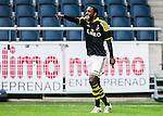 Solna 2015-07-26 Fotboll Allsvenskan AIK - IF Elfsborg :  <br /> AIK:s Henok Goitom firar sitt 4-0 m&aring;l under matchen mellan AIK och IF Elfsborg <br /> (Foto: Kenta J&ouml;nsson) Nyckelord:  AIK Gnaget Friends Arena Allsvenskan Elfsborg IFE jubel gl&auml;dje lycka glad happy