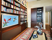 Entertainment Space With Hidden Equipment Rack