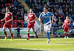 St Johnstone v Aberdeen&hellip;15.04.17     SPFL    McDiarmid Park<br />Little reaction from Dany Swanson after scoring from the spot<br />Picture by Graeme Hart.<br />Copyright Perthshire Picture Agency<br />Tel: 01738 623350  Mobile: 07990 594431