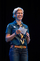 Camp chief Marie Reinecke at the IST opening ceremony Photo: Magnus Fröderberg/Scouterna