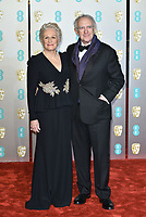 Glenn Close , Jonathan Pryce <br /> The EE British Academy Film Awards 2019 held at The Royal Albert Hall, London, England, UK on February 10, 2019.<br /> CAP/PL<br /> ©Phil Loftus/Capital Pictures