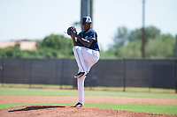 San Diego Padres relief pitcher Henry Henry (28) delivers a pitch during an Instructional League game against the Milwaukee Brewers at Peoria Sports Complex on September 21, 2018 in Peoria, Arizona. (Zachary Lucy/Four Seam Images)