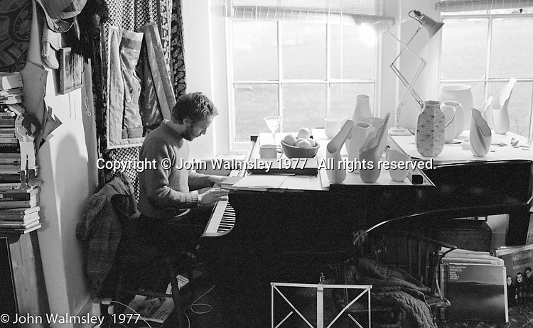 Veryan Weston, jazz pianist, and Liz Fritsch, potter, both lived and worked at Digswell House, an artists' community run by the Digswell Arts Trust, Welwyn Garden City, Hertfordshire, UK.  1977. Other artists there at the time included: Lol Coxhill, jazz saxophonist, John Blakeley, sculptor, Patricia Leighton, sculptor and John Walmsley, photographer.
