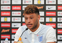Alex Oxlade-Chamberlain of England during England Press Conference at Stade Omnisport, Croissy sur Seine, France  on 12 June 2017 ahead of England's friendly International game against France on 13 June 2017. Photo by David Horn/PRiME Media Images.
