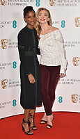 Letitia Wright and  Natalie Dormer at the EE British Academy Film Awards (BAFTAs) Nominations Announcement, BAFTA, Piccadilly, London, England, UK, on Tuesday 09 January 2018.<br /> CAP/CAN<br /> &copy;CAN/Capital Pictures