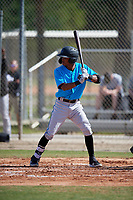Miami Marlins Jose Devers (4) during a Minor League Spring Training Intrasquad game on March 28, 2019 at the Roger Dean Stadium Complex in Jupiter, Florida.  (Mike Janes/Four Seam Images)