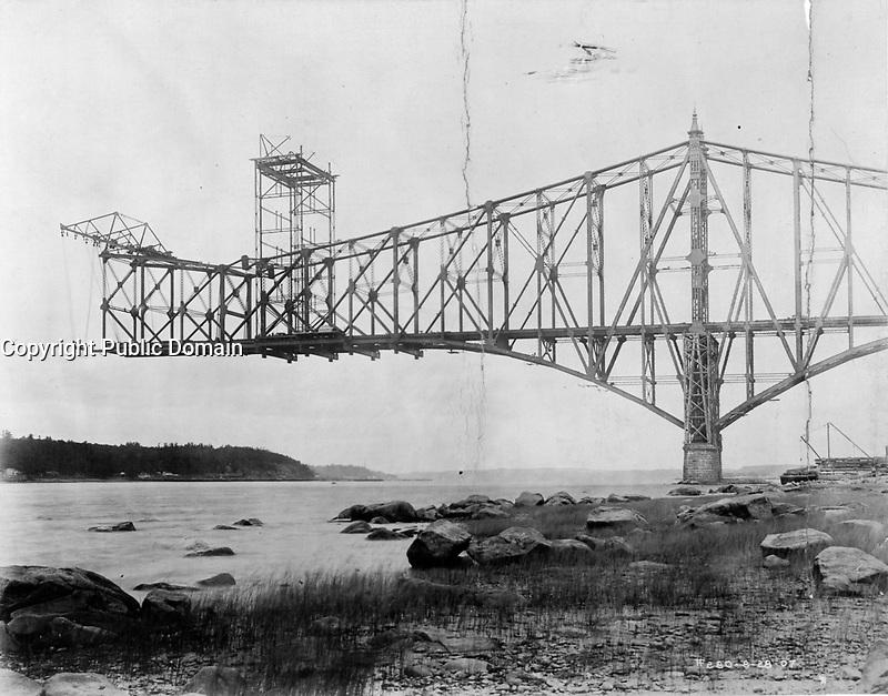 Quebec bridge , 1907