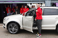 Real Madrid player Pepe participates and receives new Audi during the presentation of Real Madrid's new cars made by Audi at the Jarama racetrack on November 8, 2012 in Madrid, Spain.(ALTERPHOTOS/Harry S. Stamper) .<br /> &copy;NortePhoto