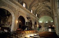 Interior of the Sainte Marie Majeure Church in Bonifacio, Corsica, France.