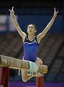 21st March 2018, Arena Birmingham, Birmingham, England; Gymnastics World Cup, day one, womens competition; Jieyu Liu (CHN) on the Balance Beam during  Training