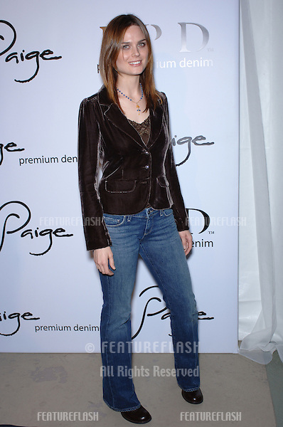"Actress EMILY DESCHANEL at the grand opening of ""Paige"" Premium Denim store on Robertson Blvd., Los Angeles..November 17, 2005  Los Angeles, CA..© 2005 Paul Smith / Featureflash"