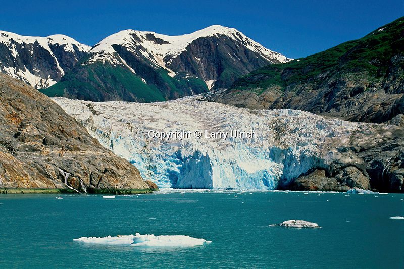 Sawyer Glacier and Coast Mountains<br />