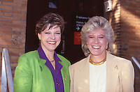 Cokie Roberts & Lynn Sherr 1992 outside<br />