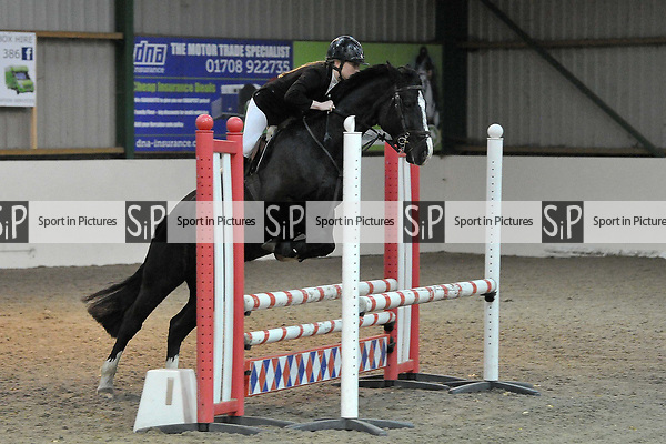 Class 1. Area 40 British showjumping christmas show. Brook Farm Training Centre. Essex. UK. 01/12/2018. ~ MANDATORY Credit Garry Bowden/Sportinpictures - NO UNAUTHORISED USE - 07837 394578
