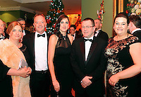 Tralee hoteliers, Marnie and Rory O'Sullivan, Ballyseede Castle, Emma Larkin, Denis Deery and Laura Reidy, Fels Point Hotel pictured at the Kerry Branch of the Irish Hotels Federation annual ball in the Dromhall Hotel, Killarney.<br /> Picture by Don MacMonagle<br /> <br /> repro free photo from dromhall hotel