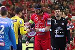 Rhein Neckar Loewe Andy Schmid (Nr.2) und Veszpr&eacute;ms L&aacute;szl&oacute; Nagy (Nr.19) beim Spiel in der Champions League, Telekom Veszprem - Rhein Neckar Loewen.<br /> <br /> Foto &copy; PIX-Sportfotos *** Foto ist honorarpflichtig! *** Auf Anfrage in hoeherer Qualitaet/Aufloesung. Belegexemplar erbeten. Veroeffentlichung ausschliesslich fuer journalistisch-publizistische Zwecke. For editorial use only.