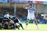 Anthony Perenise of Bath Rugby. Gallagher Premiership match, between Exeter Chiefs and Bath Rugby on March 24, 2019 at Sandy Park in Exeter, England. Photo by: Patrick Khachfe / Onside Images