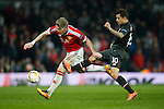 Bastian Schweinsteiger of Manchester United and Philippe Coutinho of Liverpool in action during the UEFA Europa League match at Old Trafford. Photo credit should read: Philip Oldham/Sportimage