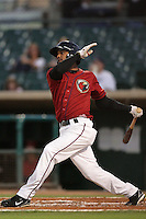 Jonathan Villar of the Lancaster JetHawks during game against the Lake Elsinore Storm at Clear Channel Stadium in Lancaster,California on September 1, 2010. Photo by Larry Goren/Four Seam Images