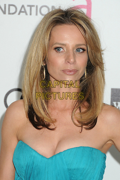 Jessalyn Gilsig.20th Annual Elton John Academy Awards Viewing Party held at West Hollywood Park, West Hollywood, California, USA..February 26th, 2012.oscars headshot portrait blue turquoise strapless cleavage .CAP/ADM/BP.©Byron Purvis/AdMedia/Capital Pictures.