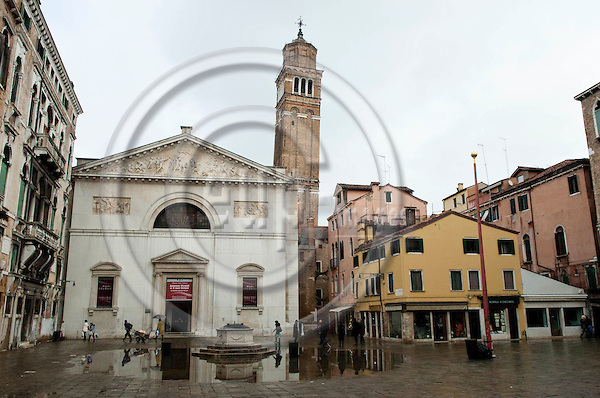 San Marco-Venice-Italy - December 24, 2010 -- Church / Campo San Maurizio, with the leaning belltower / Campanile Santo Stefano  -- architecture, landmark, tourism -- Photo: Horst Wagner / eup-images