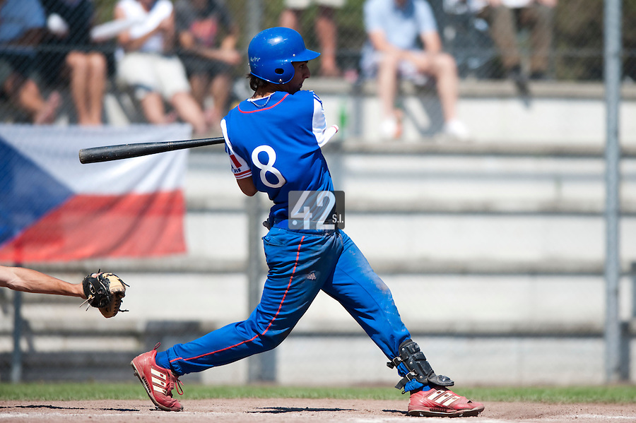 Baseball - 2009 European Championship Juniors (under 18 years old) - Bonn (Germany) - 04/08/2009 - Day 2 - Thomas Medina (France)
