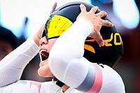 Picture by Alex Whitehead/SWpix.com - 10/12/2017 - Cycling - UCI Track Cycling World Cup Santiago - Velódromo de Peñalolén, Santiago, Chile - Kim Won-gyeong of the Republic of Korea prepares to compete in the Women's Team Sprint bronze medal final.