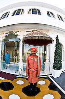 The staff at the Taj Lake Palace are really outstanding. The traditional doorman is a great way to be welcomed on your arrival. (Photo by Matt Considine - Images of Asia Collection)