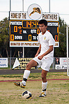 Palos Verdes, CA 01/22/13 - Tony Bumatay (Peninsula #5) in action during the West vs Peninsula boys varsity soccer game at Peninsula High School.