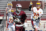 Los Angeles, CA 02/28/09 -  Alex Rice (USC #20),Luke Gilliand (USC #30) and Ryan Cavalier (LMU #3)