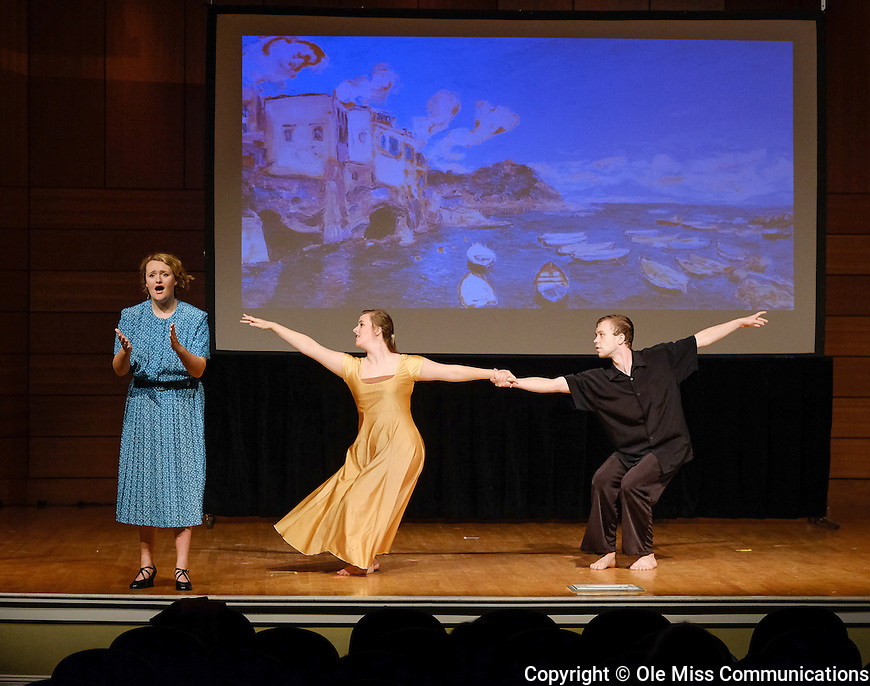 UM Opera Theatre performers rehearse for 'Opera & Musical Scenes: Inspired by Art & Dance'. Photo by Robert Jordan/Ole Miss Communications