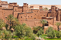Picture of Kasbah Ait Ben Haddou, UNESCO World Heritage Site, near Ouarzazate, Morocco, North Africa, Africa. This photo shows Kasbah Ait Ben Haddou, an impressive fortified city ('ksar' or 'ksour' meaning castle in Moroccan), which is a UNESCO World Heritage Site and has been used in numerous films including The Mummy, Gladiator and The Jewel of the Nile.