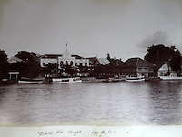 BNPS.co.uk (01202 558833)<br /> Pic: 25BlytheRoad/BNPS<br /> <br /> The Oriental Hotel in Bangkok - still running today.<br /> <br /> Stunning 125 year-old pictures of Thailand which showcase the tropical paradise long before it became a tourist hot-spot have emerged.<br /> <br /> The collection of photographs from the early 1890s include images of the King's birthday celebrations in 1892, the King's palace and the Bangkok architecture.<br /> <br /> Also included in the collection are photographs of Hong Kong under British crown rule in 1895 including of British seamen, the Hong Kong cricket team and the native army.<br /> <br /> The photo album will go under the hammer on January 25 and is tipped to sell for &pound;1,500.<br /> <br /> The owner of the album is believed to have been a member of the Royal Engineers or connected with them.<br /> <br /> The fascinating photos provide a snapshot of Thailand under the rule of King Chulalongkorn.<br /> <br /> He was the first Siamese king to have a full western education, having been taught by British governess Anna Leonowens whose memoirs were transported to the silver screen in the famous film The King and I.