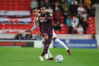 Tom Ince of Stoke City battles with Martin Olsson of Swansea City during the Sky Bet Championship match between Stoke City and Swansea City at the Bet 365 Stadium in Stoke on Trent, England, UK. Tuesday 18 September 2018