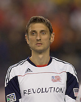 New England Revolution midfielder Ivan Gvozdenovic (17). SL Benfica  defeated New England Revolution, 4-0, at Gillette Stadium on May 19, 2010.