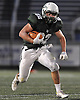 Locust Valley running back No. 22 Tom Talenti rushes for a gain during a Nassau County varsity football Conference IV semifinal against West Hempstead at Hofstra University on Thursday, Nov. 12, 2015. He ran for 97 yards and a touchdown and threw for another in Locust Valley's 34-10 win.<br /> <br /> James Escher
