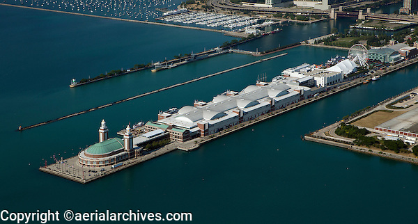 aerial photograph Navy Pier Chicago, Illinois