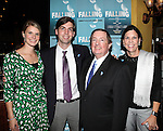 Producer Terry Schnuck with wife and Family attending the Off-Broadway Opening Night Performance After Party for 'Falling' at Knickerbocker Bar & Grill on October 15, 2012 in New York City.