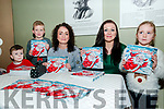 "Children's Book Launch: Darragh Hickey, Jack & Ellie ai O'Gorman pictured with artist Grainne O'Connor and author Karen O'Connor at the launch of ""Santa's Wish"" at the Seanchai Centre, Listowel on Saturday afternoon last."