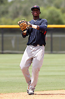 Miguel Sano (23) Infielder for the GCL Twins during a game against the GCL Rays on July 16th, 2010 at Charlotte Sports Park in Port Charlotte Florida. The GCL Twins are the the Gulf Coast Rookie League affiliate of the Minnesota Twins. Photo by: Mark LoMoglio/Four Seam Images