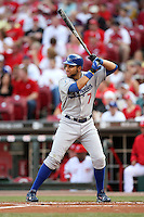 June 18, 2008: Los Angeles Dodgers first baseman James Loney (7) at The Great American Ballpark in Cincinnati, OH.  Photo by:  Chris Proctor/Four Seam Images