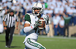 October 22, 2016 - Colorado Springs, Colorado, U.S. -   Hawaii wide receiver, John Ursua #45, breaks free for a second half touchdown during the NCAA Football game between the University of Hawaii Rainbow Warriors and the Air Force Academy Falcons, Falcon Stadium, U.S. Air Force Academy, Colorado Springs, Colorado.  Hawaii defeats Air Force in double overtime 43-27.